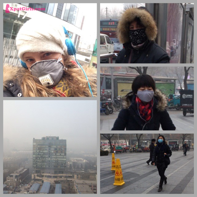 Trying to protect yourself with a mask that filter the polluted air