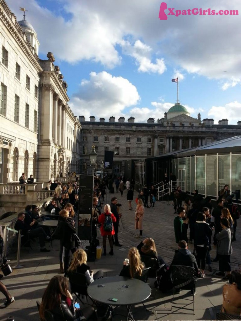 This is where the magic happens: Somerset House. Even the sun is out!