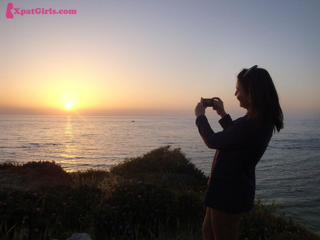 Catching sunset in Tel Aviv