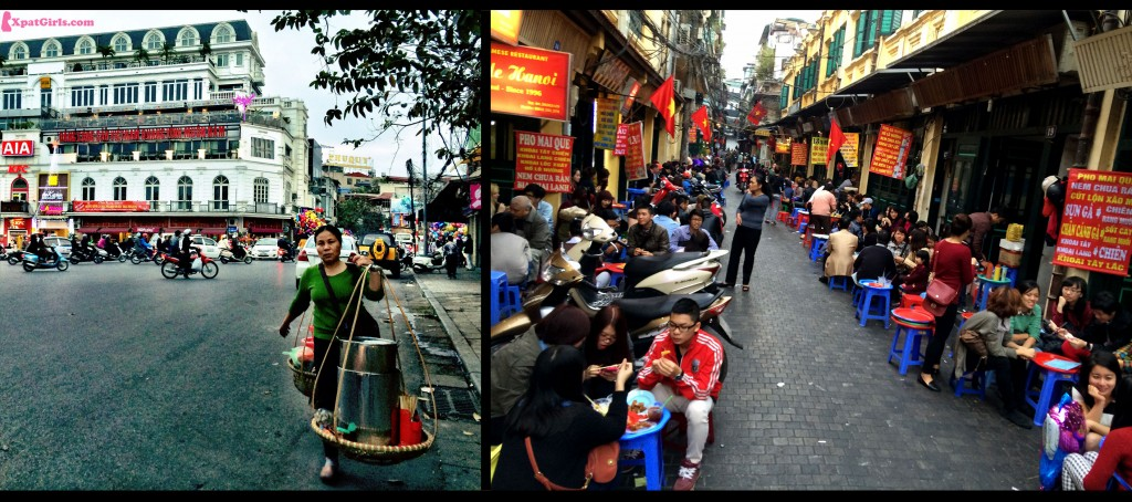"Eating on the street ""street food"" in Hanoi"