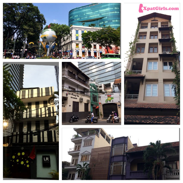 A mix Asian / European architecture in Ho Chi Minh City