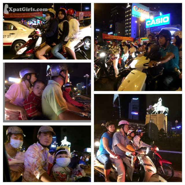 There are about 4 million motorbikes only in Hanoi city