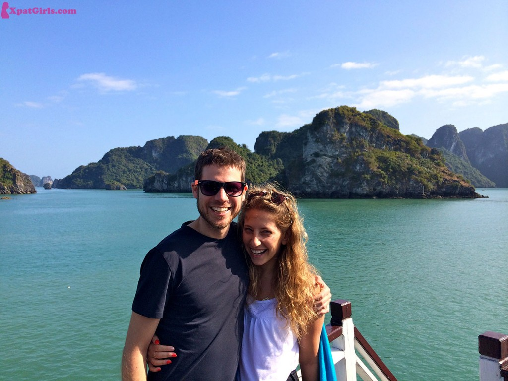 On the love boat Ha Long Bay