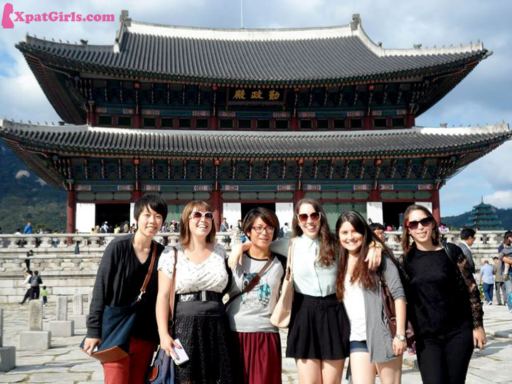 At Gyeongbukgung Palace in Seoul with fellow expats.