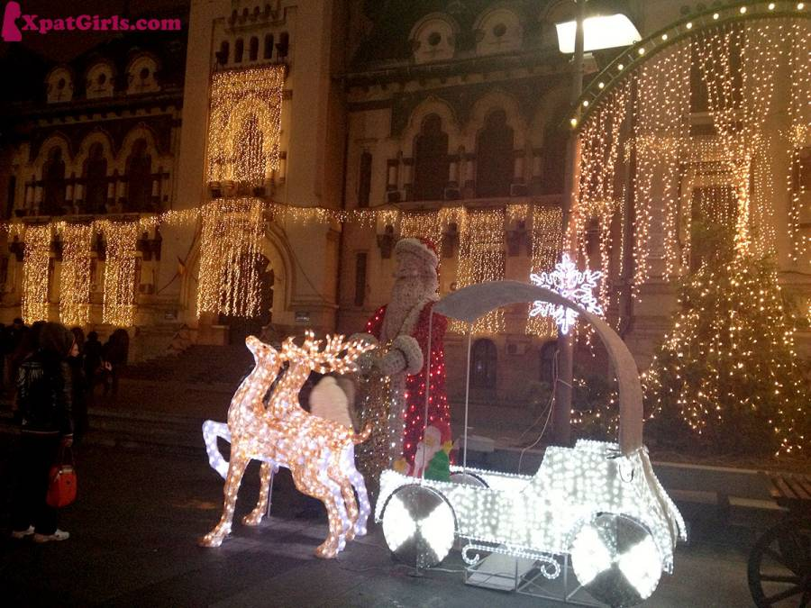 Winter decoration in Craiova, my hometown. Everybody says: fairytale!
