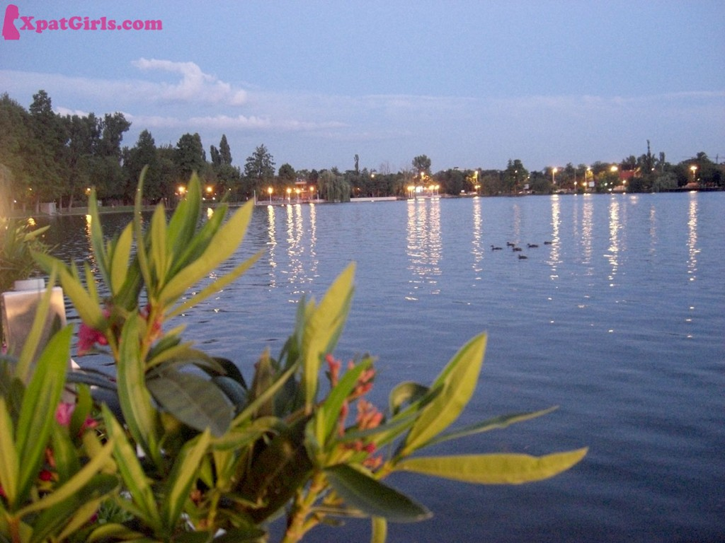 Dusk on Herastrau lake