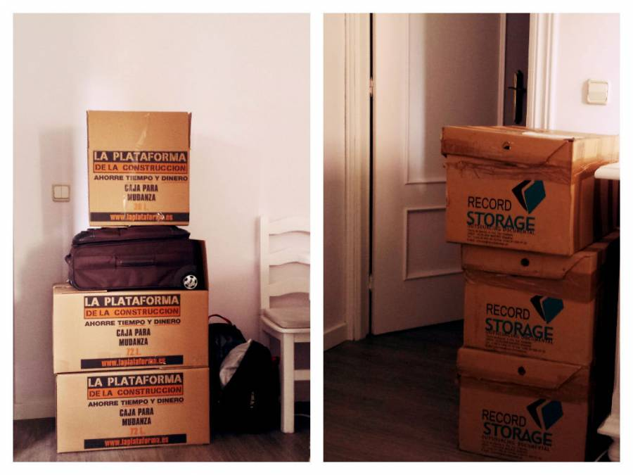 8 months packed in 6 boxes