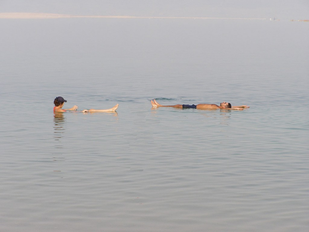 Perfect for swimmers and non-swimmers. This water will always hold you to the surface. Not the ideal set up for the perfect crime, as one can't drown in the Dead Sea 