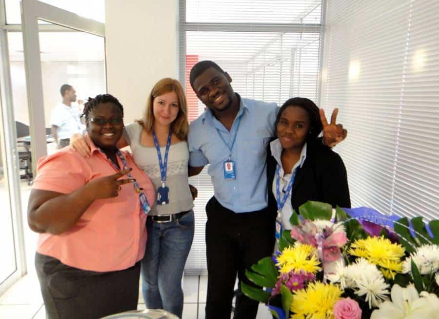 With fabulous people - Elma, Seth and Natasha.