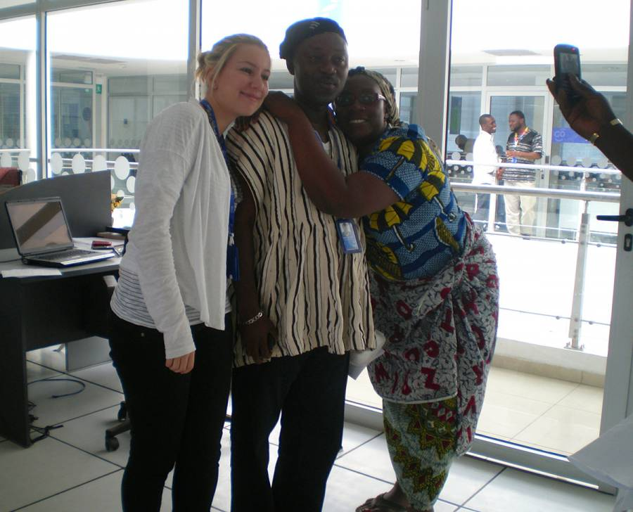 With Patience and Edward who taught me a lot about Ghana.