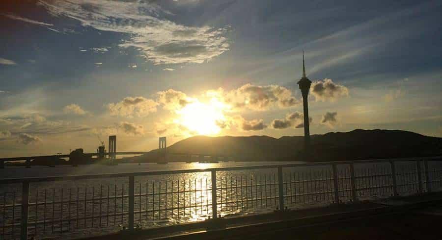 From the bridge the pretty Macau