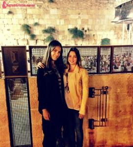 My friend Elinor & I in Jerusalem at the Western Wall