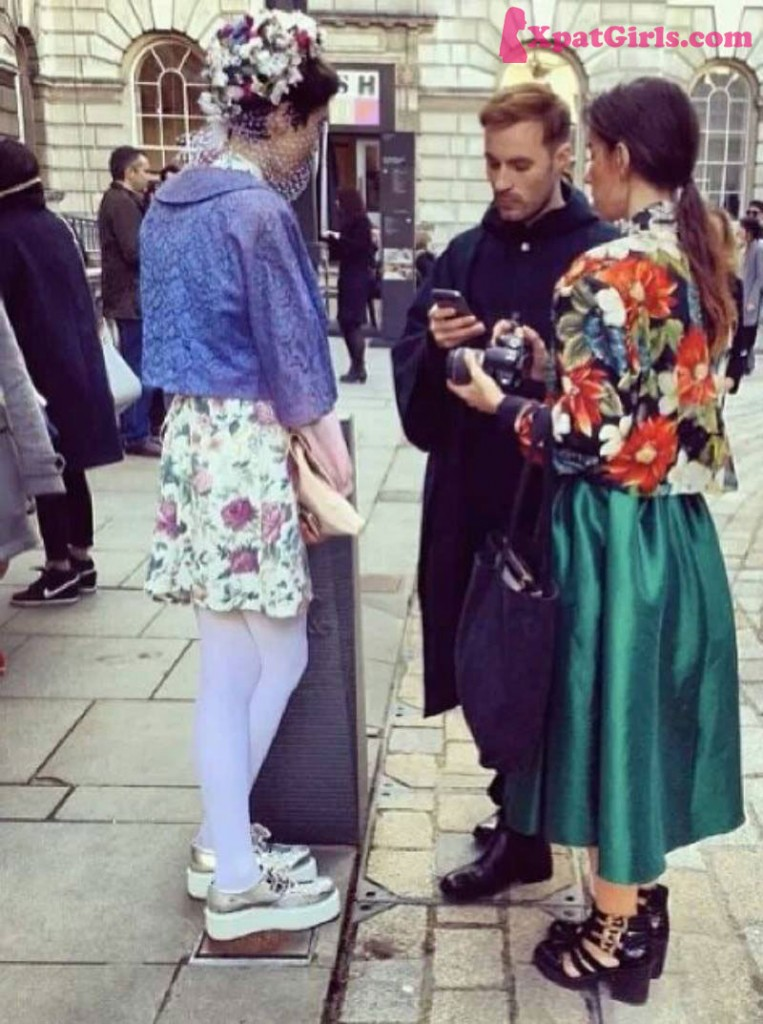 Mixing and matching vintage with designer at Somerset House LFW AW14