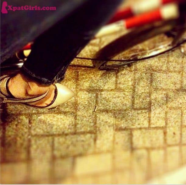 Whenever I feel fancy, I put my high-heels on and jump on my bike