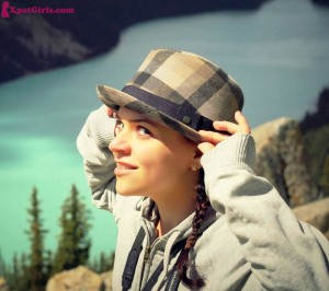 Enjoying the view at Peyto Like after a short hike. Pretty awesome, eh?