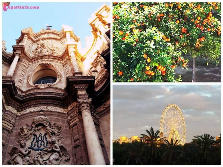 Gothic style, oranges and Valencia's Wheel