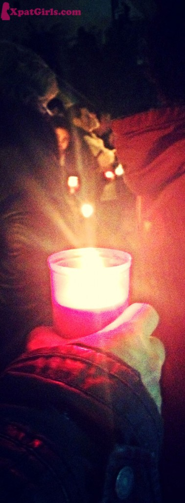 The candle light represents the symbol of resurrection