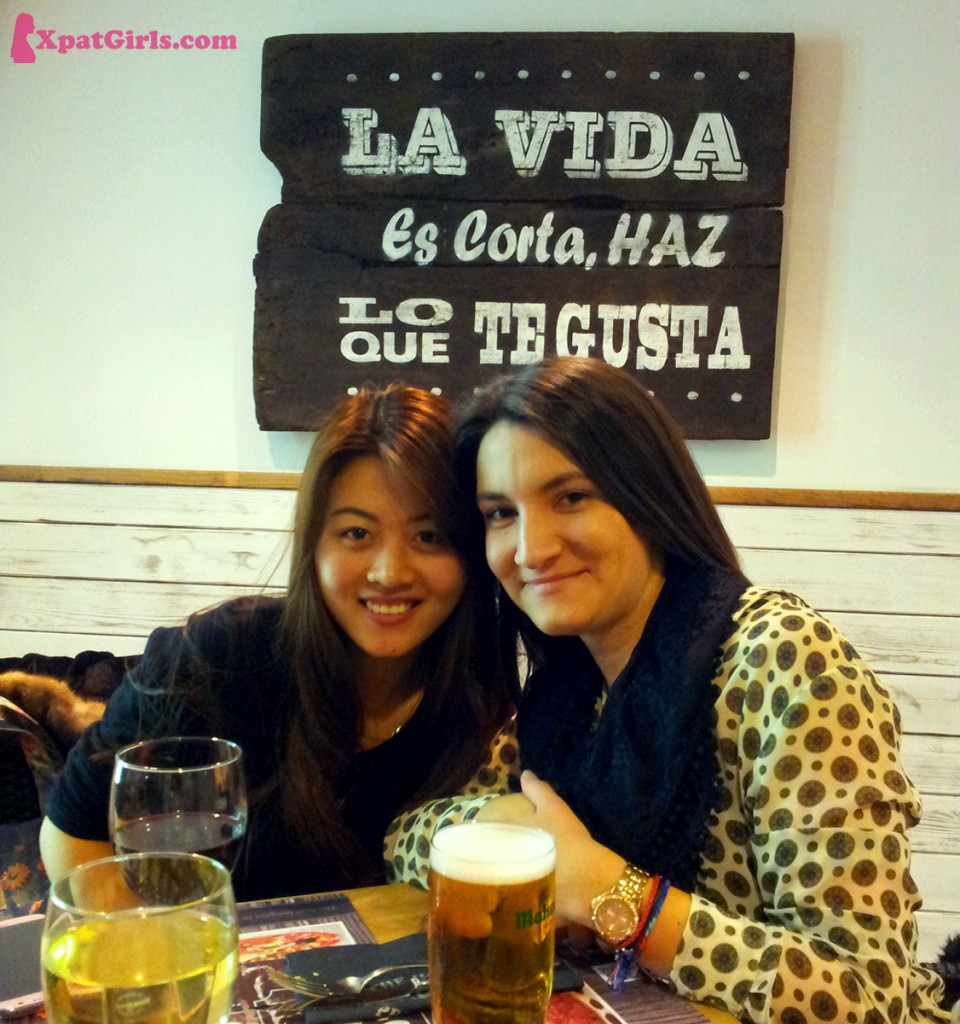 My and my friend Chen, enjoying beers and burgers!