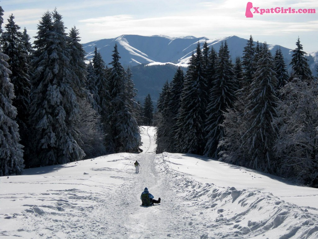 Sliding down the mountains in Predeal