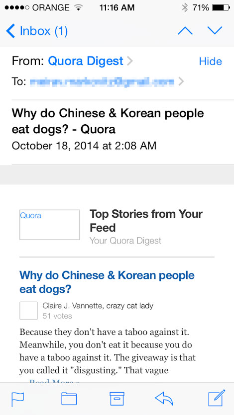 The answer I didn't want to hear on Quora