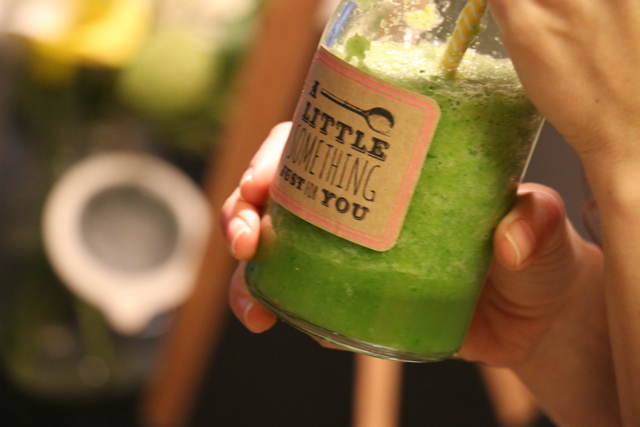 "A tutorial video I filmed for the blog - ""How to make a green smoothie"""