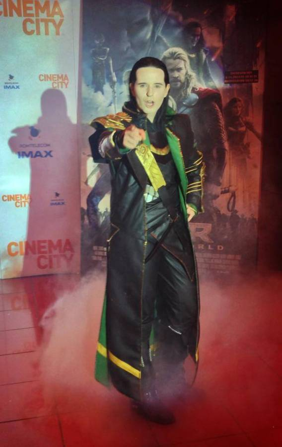 Fahr in Bucharest for the premiere of Thor, The Dark World