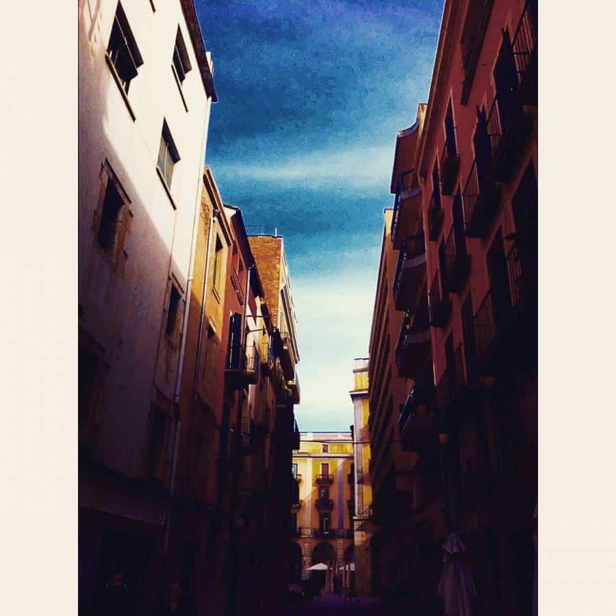 Beautiful sky over Girona